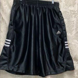 🌈🦄Adidas Athletic Shorts Large GUC Black 3Stripe